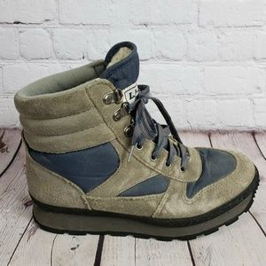 LL Bean Vintage Suede Hiker Boots Womens 7 Shoes